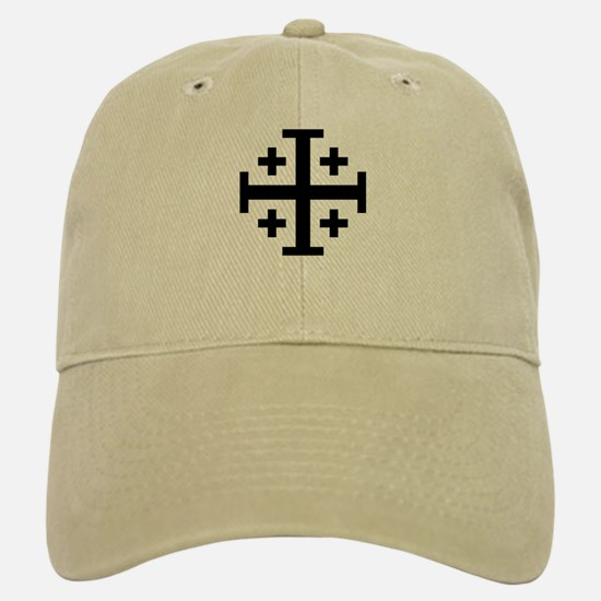 Crusaders Cross (Black) Baseball Baseball Cap