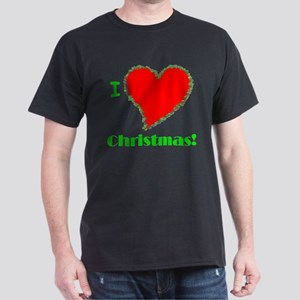 I Love Christmas Heart Dark T-Shirt