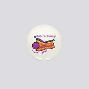 Rather Be Knitting Design Mini Button