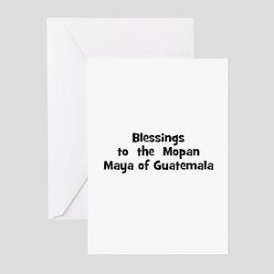 Blessings  to  the  Mopan May Greeting Cards (Pk o