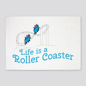 Life Is Roller Coaster 5'x7'Area Rug