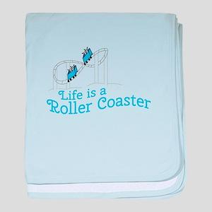 Life Is Roller Coaster baby blanket
