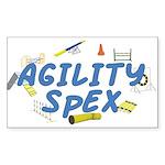 SpEX Agility Title Rectangle Sticker