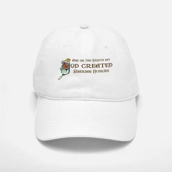 God Created Huskies Baseball Baseball Cap