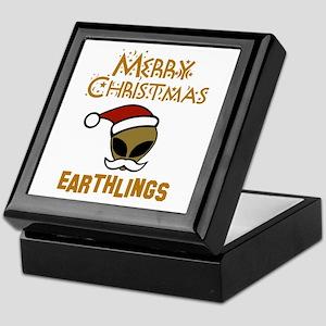 Merry Christmas Earthlings Keepsake Box