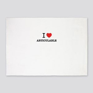 I Love ARTICULABLE 5'x7'Area Rug