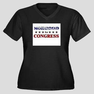 MOHAMMAD for congress Women's Plus Size V-Neck Dar