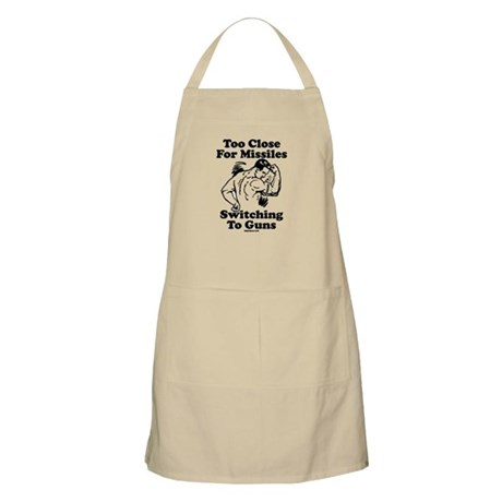 Too Close For Missiles, Switc BBQ Apron