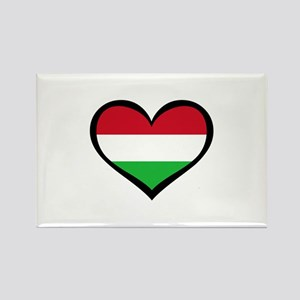 Hungary Love Rectangle Magnet