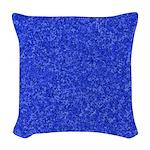 Martian Blue Woven Throw Pillow