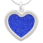 Martian Blue Silver Heart Necklace