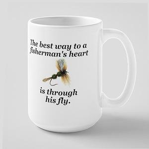 "Large ""Way to a Fisherman's Heart"" Mug"