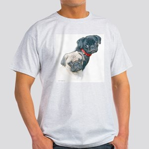 Two Pugs Ash Grey T-Shirt