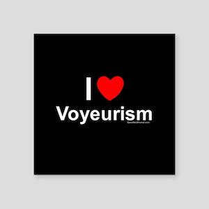 "Voyeurism Square Sticker 3"" x 3"""