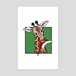 Holiday Giraffe Mini Poster Print