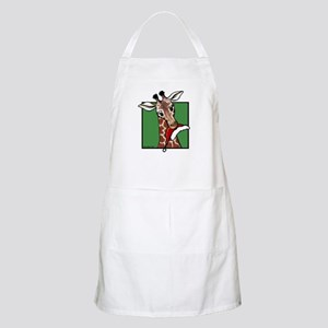 Holiday Giraffe BBQ Apron