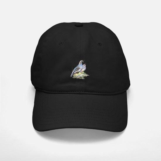 Watercolor California Quail Bird Nature Baseball Hat