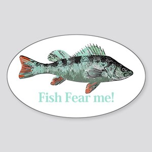 Fish Fear Me Humorous Fisherman Quote Sticker