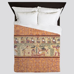 Egyptian House Queen Duvet