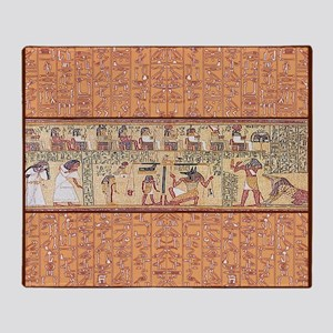 Egyptian House Throw Blanket