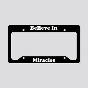 Believe In Miracles License Plate Holder