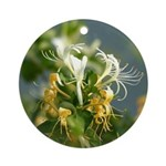 Japanese Honeysuckle Ornament (Round)