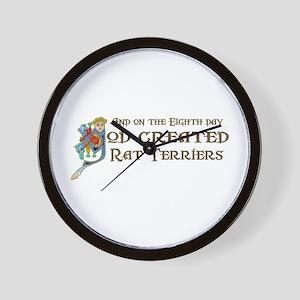 God Created Terriers Wall Clock
