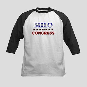 MILO for congress Kids Baseball Jersey