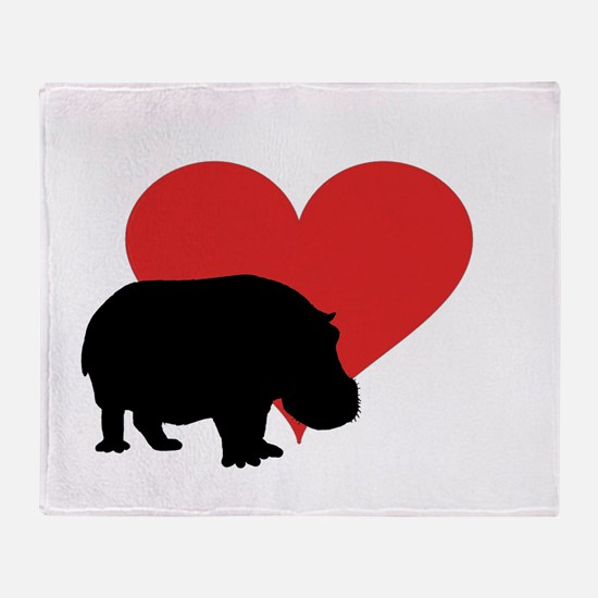 Hippo Throw Blanket