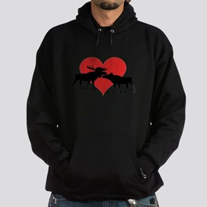 Moose Bull and Cow Hoodie (dark)