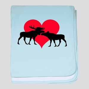 Moose Bull and Cow baby blanket