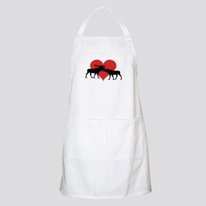 Moose Bull and Cow Apron