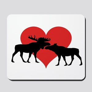Moose Bull and Cow Mousepad