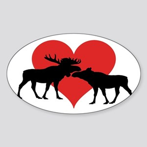 Moose Bull and Cow Sticker