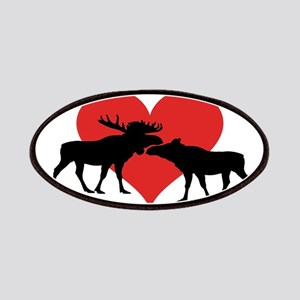Moose Bull and Cow Patch