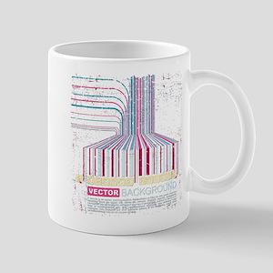 cyberpunk grunge barcode Mugs