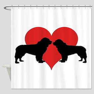 Newfoundland Dogs Shower Curtain
