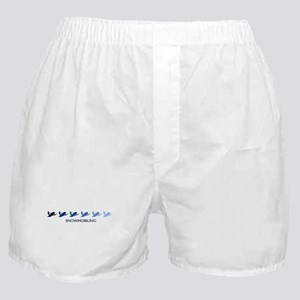 Snowmobiling (blue variation) Boxer Shorts