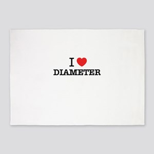I Love DIAMETER 5'x7'Area Rug
