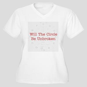 Circle Unbroken Women's Plus Size V-Neck T-Shirt