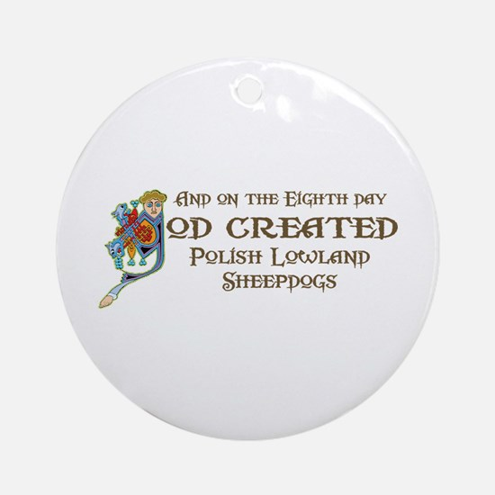 God Created PLSs Ornament (Round)
