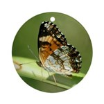 Silvery Checkerspot Underwing Ornament (Round)