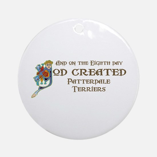 God Created Patterdales Ornament (Round)