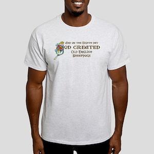 God Created Sheepdogs Light T-Shirt