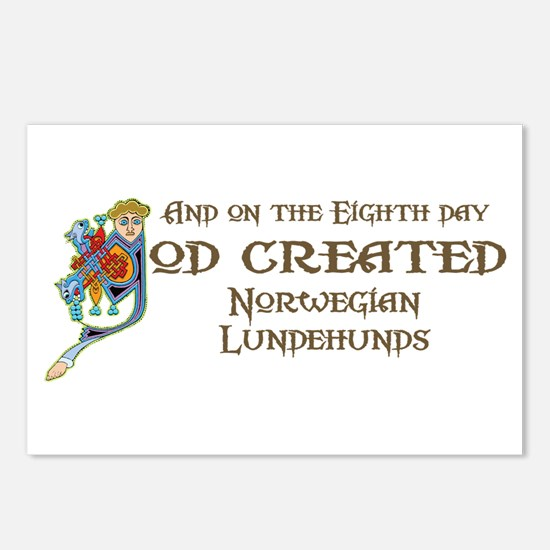 God Created Lundehunds Postcards (Package of 8)