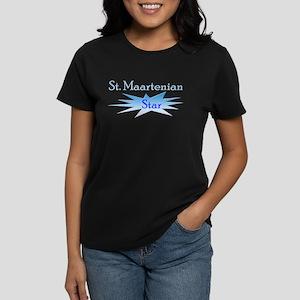 St. Maartenian Star Women's Dark T-Shirt