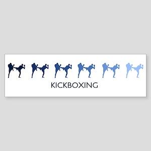 Kickboxing (blue variation) Bumper Sticker