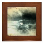 Sun Through Storm Clouds Framed Tile