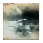 Sun Through Storm Clouds Tile Coaster