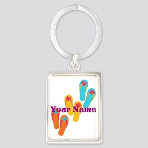 Personalized Flip Flops Keychains